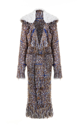 Medium lalo multi oversized collar tweed coat