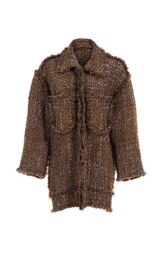 Medium lalo multi front pocket handmade tweed jacket