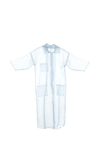 Medium lalo blue sheer long sleeve blouse 2