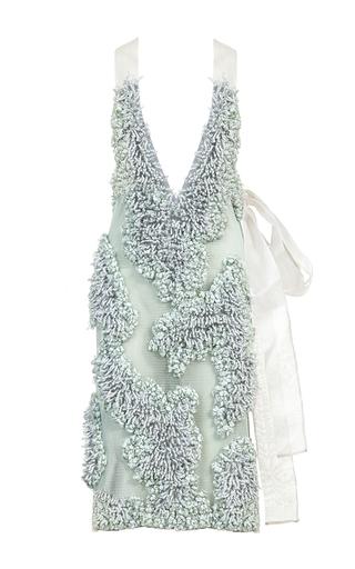 Medium lalo light blue textured tweed dress