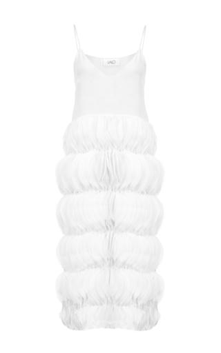 Medium lalo white midi dress with ruffles