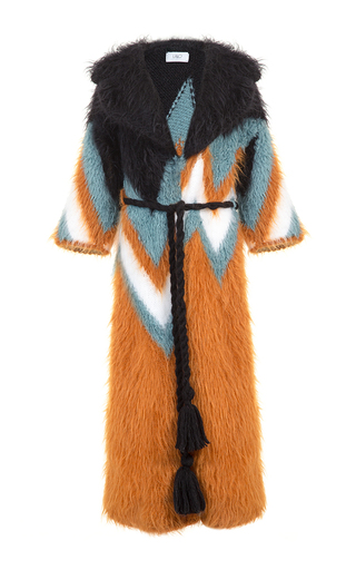 Medium lalo multi chevron handmade coat 2