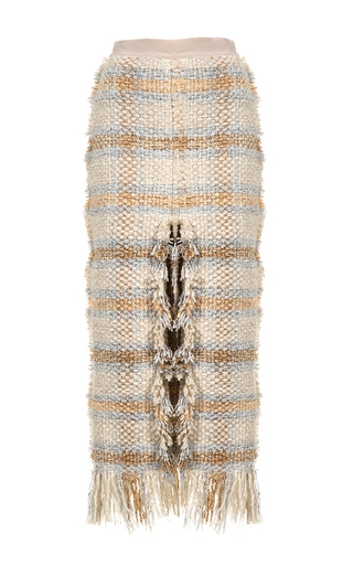 Medium lalo multi tweed pencil skirt