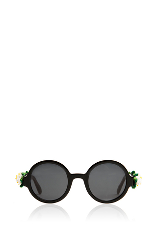 Medium alexander arutyunov black floral sunglasses