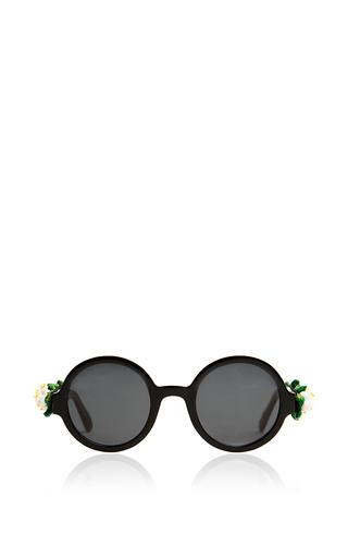 Medium alexander arutyunov black floral sunglasses