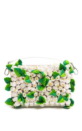 Medium alexander arutyunov white white floral clutch