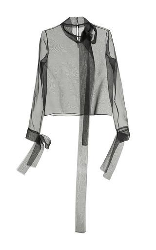 Medium nino babukhadia black black long sleeve silk cotton blouse