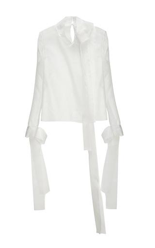 Medium nino babukhadia white white long sleeve silk cotton blouse