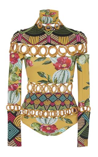 Medium triya multi patchwork one piece bathing suit