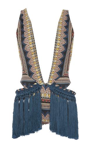 Medium triya multi ethnic lace fringe maillot