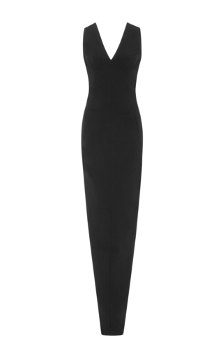 Medium rick owens black stretch crepe maxi dress