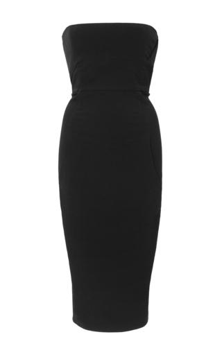Medium rick owens black strapless pencil mid length dress