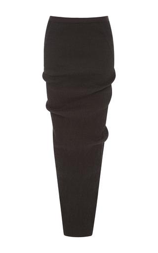 Medium rick owens dark grey soft pillar long skirt