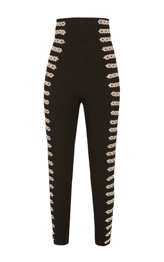Medium alexander arutyunov black ultra high rise embellished trousers