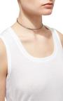 18 K White Gold And Black Rhodium Diamond Choker  by JACK VARTANIAN Now Available on Moda Operandi