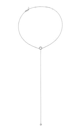 Medium jack vartanian silver 18k white gold fetish diamond necklace