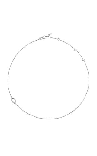 18 K White Gold And Black Rhodium Llb Diamond Drop Choker  by JACK VARTANIAN Now Available on Moda Operandi