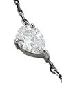 18 K White Gold And Black Rhodium Diamond Drop Choker  by JACK VARTANIAN Now Available on Moda Operandi