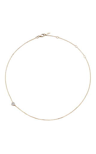 Medium jack vartanian gold 18k yellow gold diamond drop choker