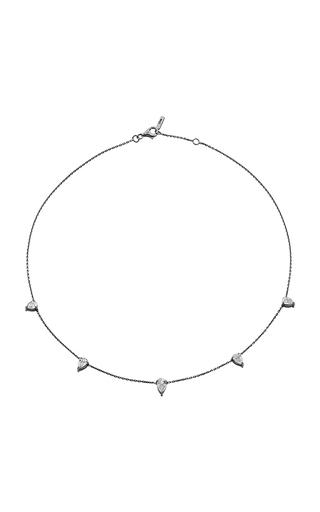 Medium jack vartanian dark grey 18k white gold and black rhodium diamond drop choker 2