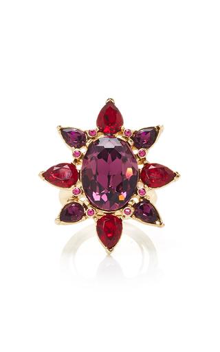 Medium oscar de la renta pink tropical bloom star ring pink
