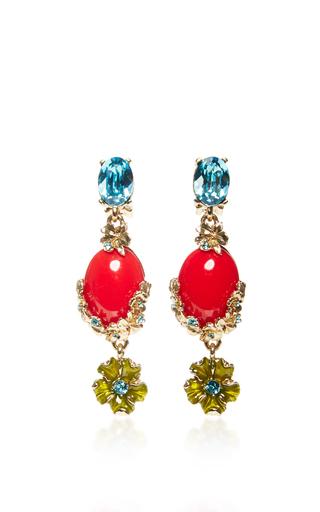 Medium oscar de la renta red red bouquet c earrings