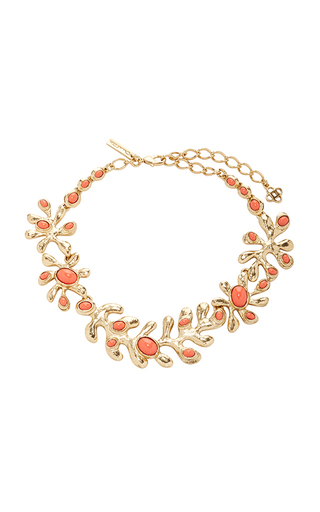 Medium oscar de la renta red coral sea tangle necklace