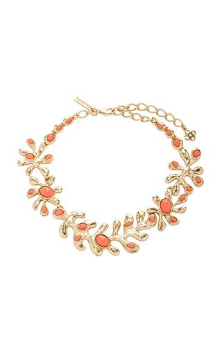 Medium oscar de la renta red coral sea tangle necklace