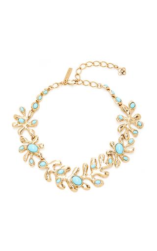 Medium oscar de la renta blue cyan sea tangle necklace