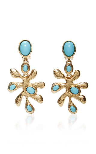 Medium oscar de la renta blue cyan sea tangle c earring