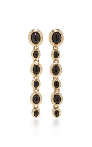 Medium oscar de la renta black jet sea tangle drop earrings