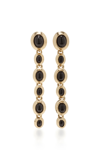 Medium oscar de la renta black jet sea tangle drop earrings