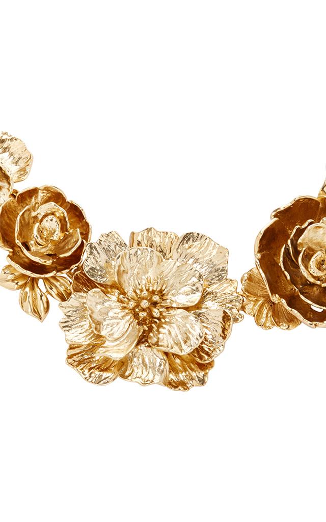 Bold Flower Necklace By Oscar De La Renta Moda Operandi