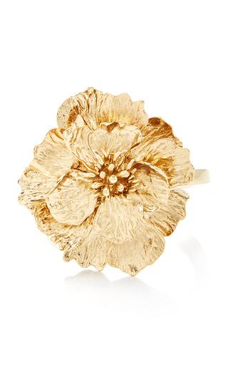 Medium oscar de la renta gold bold flower bracelet gold