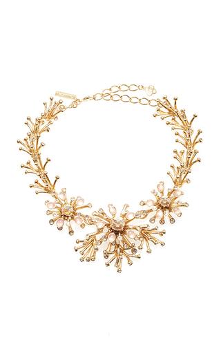 Medium oscar de la renta gold galaxy coral necklace