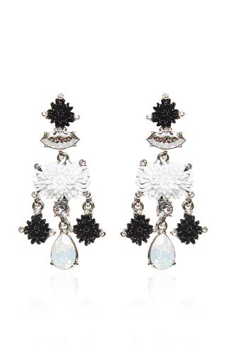 Medium oscar de la renta black black dahlia earrings