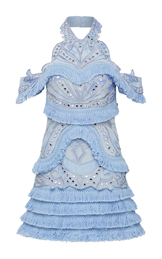 Medium thurley blue aphrodite fringe dress