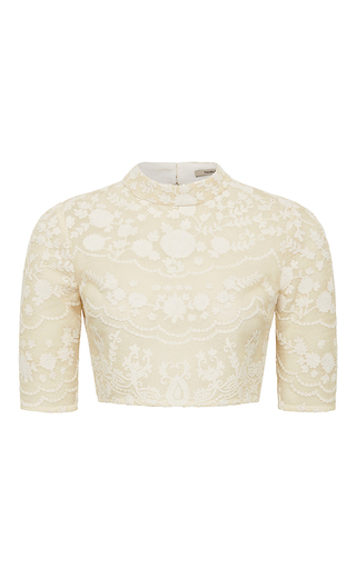Medium thurley off white imperial cropped blouse