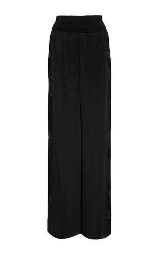 Medium atm black wide leg pant with side panel