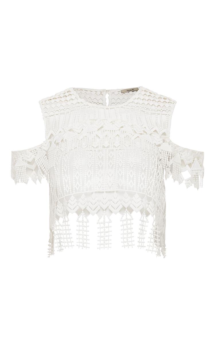 Chandelier lace crop top by thurley moda operandi loading arubaitofo Choice Image