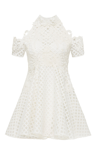 Medium thurley white be mine lace flare dress