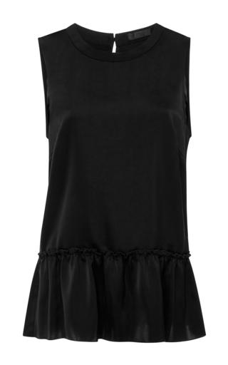 Medium atm black sleeveless ruffle top