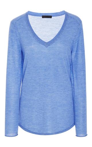 Medium atm light blue v neck cashmere sweater