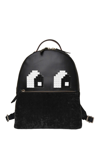 Medium les petits joueurs black mick eyes backpack