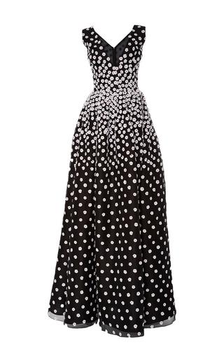 Medium oscar de la renta black white sleeveless daffodil dress