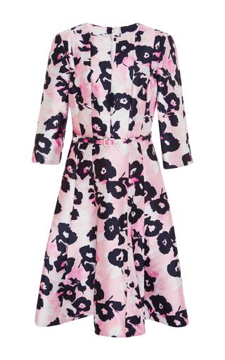 Medium oscar de la renta pink belted a line dress