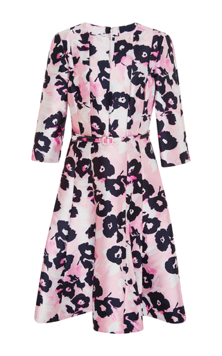 Medium oscar de la renta pink belted a line dress