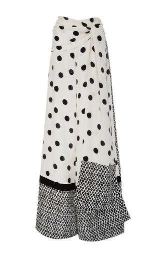 Medium oscar de la renta black white wide leg polka dot pants