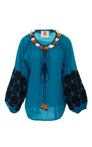 Medium figue blue paradise coco tassel top