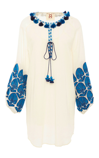 Medium figue white embroidered coco dress